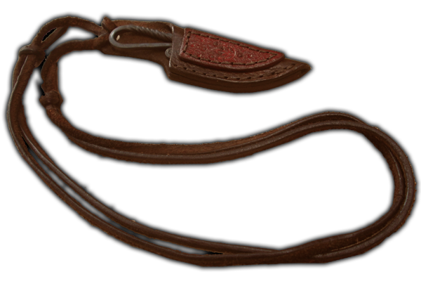 neckblade with leather carving
