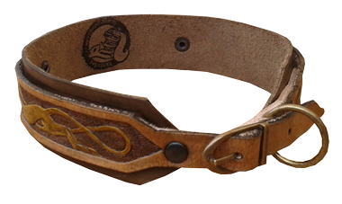 carved Hundehalsband hinten